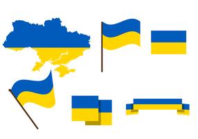 Vector libre de la correspondencia de Ucrania