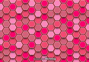 Abstract Background With Pink Hexagons