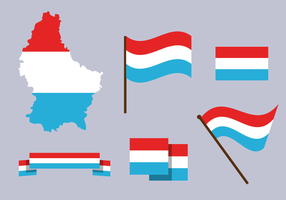 Vector mapa de Luxemburgo gratis