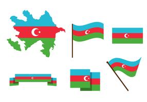Vector mapa de Azerbaiyán gratis