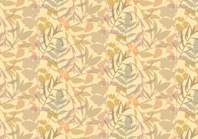 Boho Plants Leafs Pattern vector