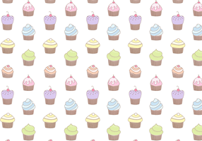 Vetor de padrão de cupcake grátis