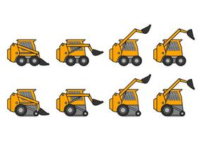 Skid Steer Icon Vector