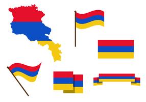 Vector livre do mapa da Armênia