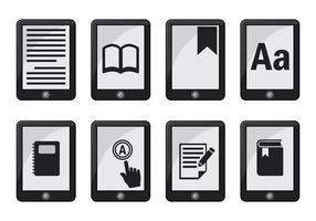 Ereader icon vector