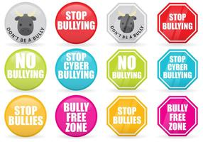 Stop Bullying Vector Signs