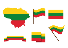 Lituania gratis mappa vettoriale