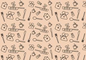 Freie Küche Muster Vektor