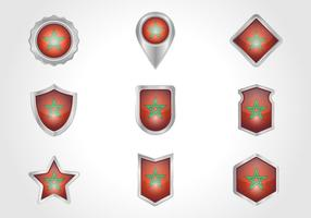 Gratis Marocko Badge Vector