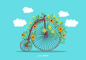 Penny farthing vector bike