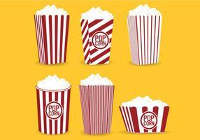 Popcorn Caja Vector