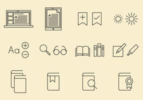 E Reader Icons vector