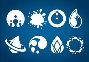 Vecteur d'icônes d'eau