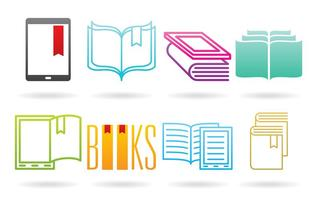Books And E Reader Logos vector