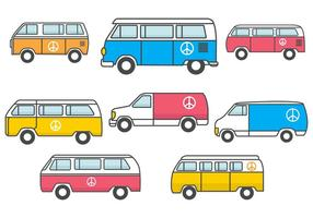 Free Hippie Bus Vector