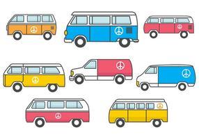 Vector libre del autobús del Hippie