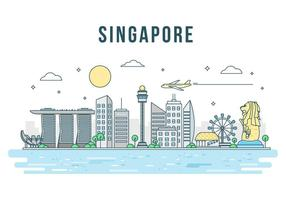 Vector libre de Singapur