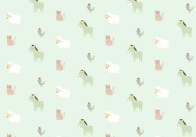 Farm Animals Pattern Background
