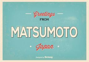 Matsumoto Japan Gruß Illustration