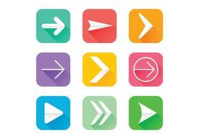 Flechas ikoner vektor uppsättning