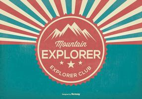 Mountain Explorer Retro Illustratie