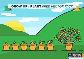 Grow up plant free vector pack