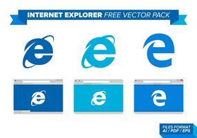 Internet Explorer libre paquete de vectores