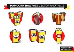 Pop corn box free vector pack vol. 2