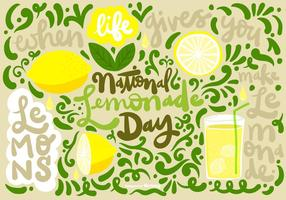 NATIONAL LEMONADE DAY Vector
