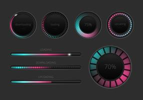 Gratis Preloader och Progress Bars Vector