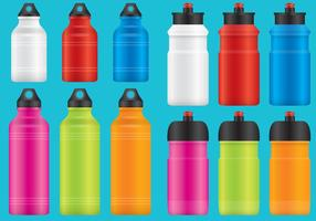 Aluminum Water Bottles vector