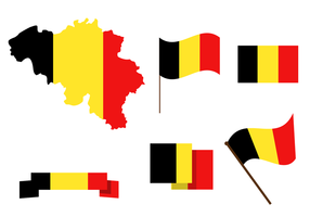 Gratis Belgien Karta Vector