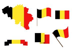 Livre Vector Mapa da Bélgica