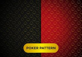 Padrão de Poker Vector elegante