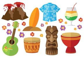Free Hawaii Icons vector