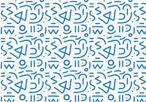 Bleu Outline Motif abstrait