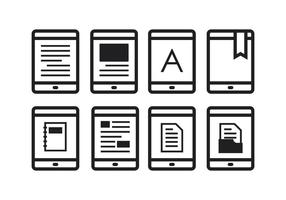 Free E-Reader Icons vector