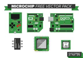 Mikrochipfri vektorpack