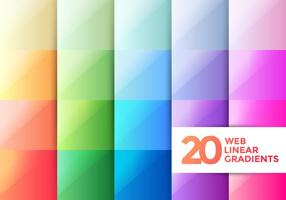 Web Linear Gradients vector