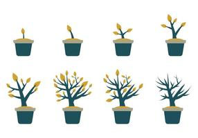 Free Grow Up Vector de la planta