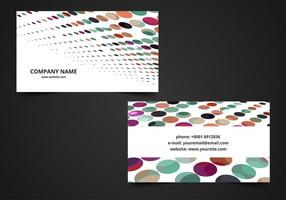 Gratis Vector Färgrik Visiting Card