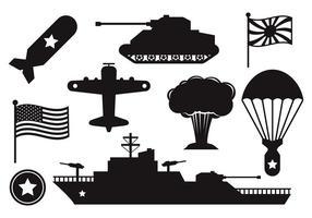 Vecteur de la Seconde Guerre mondiale gratuit
