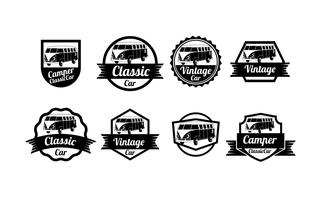 Badges vectoriels VW Camper