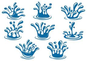 Set Water Splash Vector