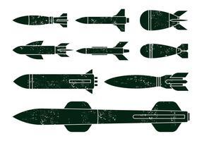 World War Missile Vectors