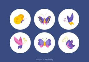 Gratis Färgrik Papillon Vector Set