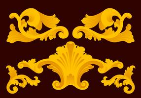 Ornamento do vetor Acanthus