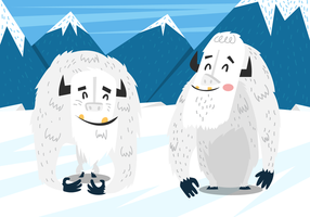 Yeti Mountain Landscape Vector