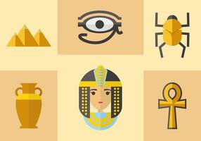 Antiguo Egipto Iconos Vector