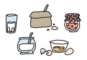 Vektorprocess för att göra pannkakor